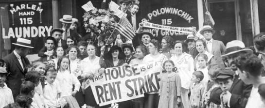 Rent Strike, New York Times, 1919.
